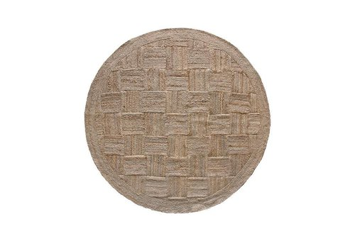 HK Living patched rond jute tapijt