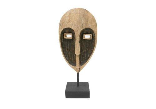 HK Living houten masker ornament
