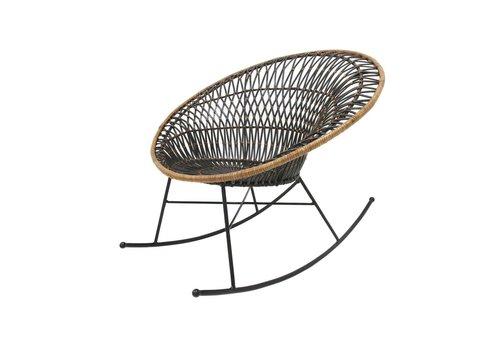 HK Living Rotan schommelstoel