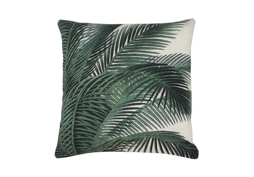 HK Living Geprint kussen palm bladeren (45x45)