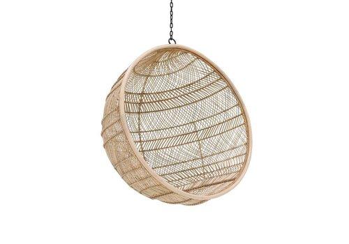 HK Living rotan hangstoel bal naturel bohemian