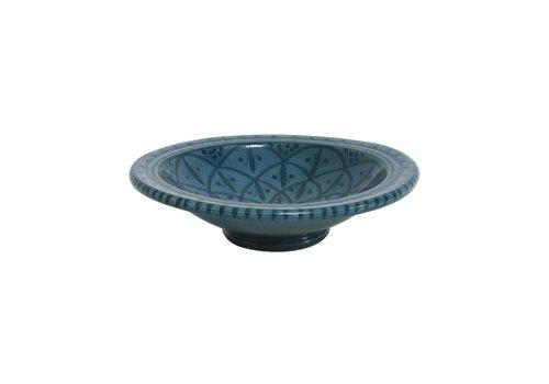 HK Living Souk schaal, keramiek - blauw/donkerblauw medium A