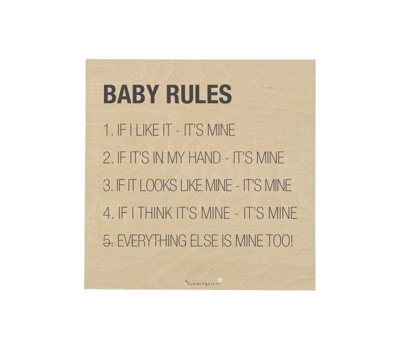 Plaat : Baby Rules