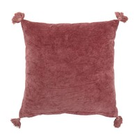 Kussen roze katoen 45 x 45 cm