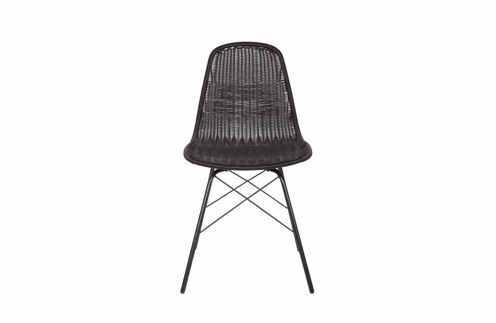 Rotan Stoel Zwart : Bepurehome spun stoel zwart set van 2 vida design