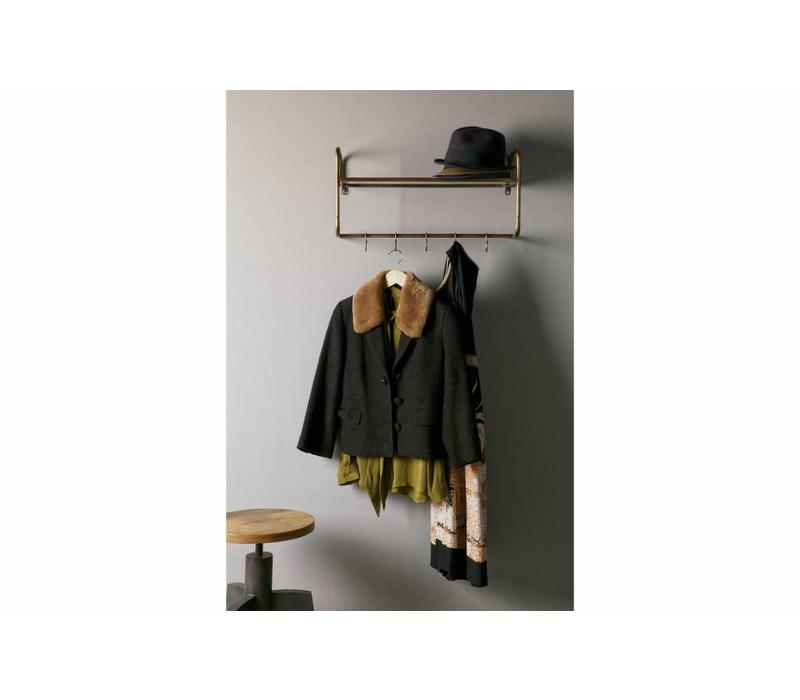 Hatstand hangende kapstok metaal antique brass