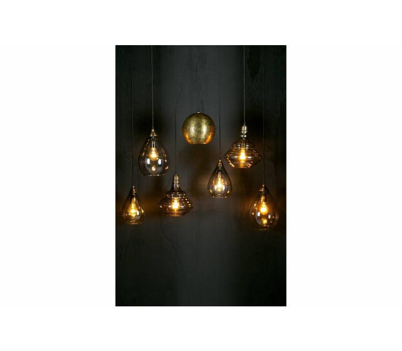 Simple hanglamp glas medium antique