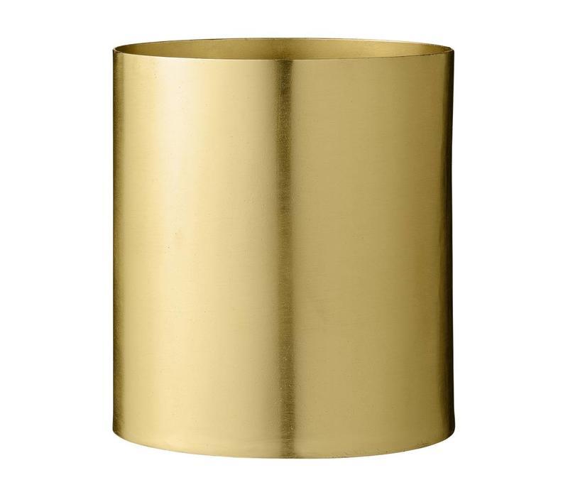 Metalen bloempot goud Ø 13 x H 14 cm