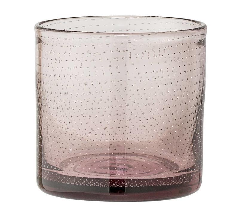 Theelichthouder Rose glas