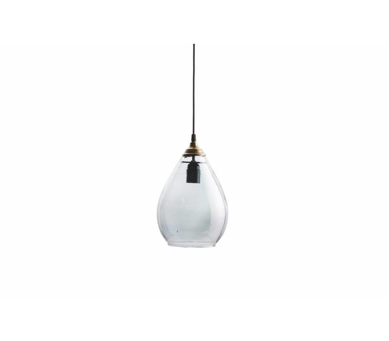 Simple hanglamp glas large antique