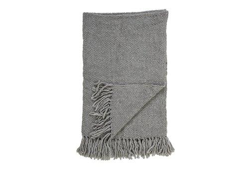 Bloomingville Deken wol, grijs L170xB130 cm