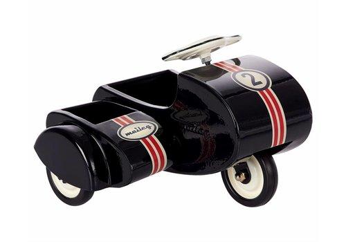 Maileg Zwart scooter met sidecar in metaal voor mini