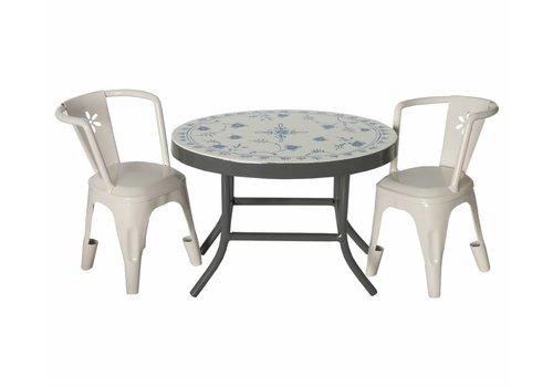 Maileg Koffietafel met 2 witte stoeltjes voor mini