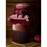 Grandma poef roze/kersenrood