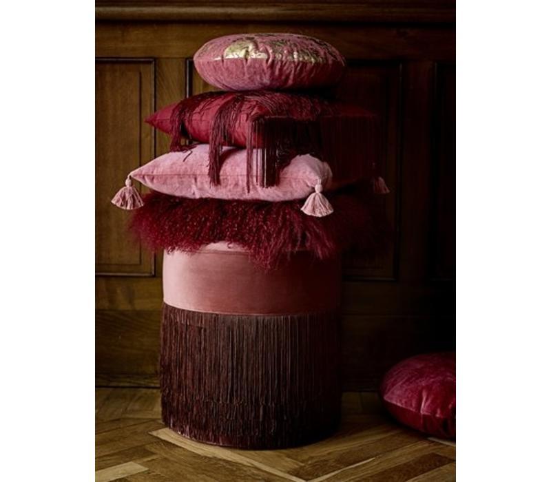 Gandma poef roze/kersenrood