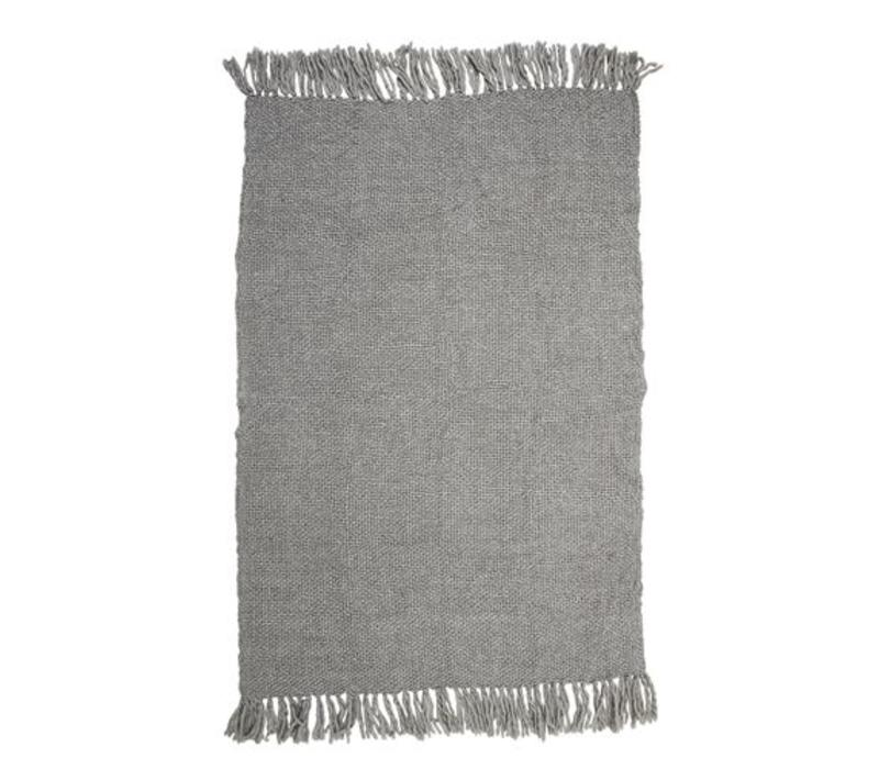 Deken wol, grijs L170xB130 cm