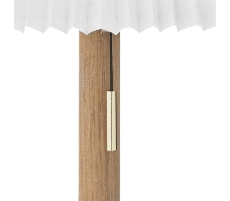 Tafellamp, eik, Ø30xH45 cm