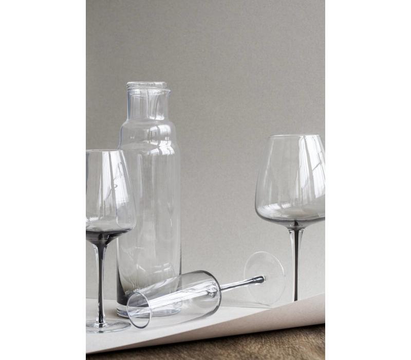 Smoke rodewijnglas doorzichtig/grijs