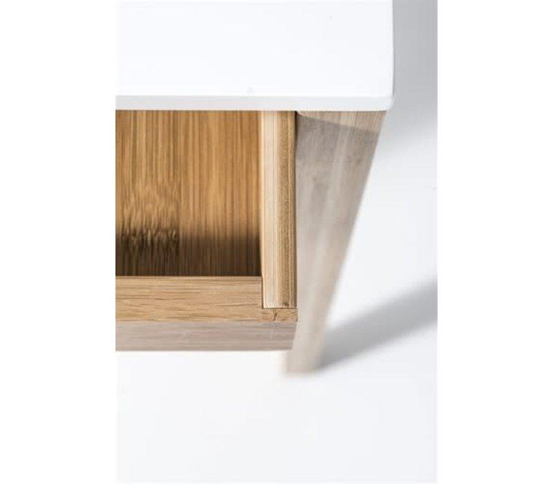 Snooze nachtkastje bamboe, naturel/wit