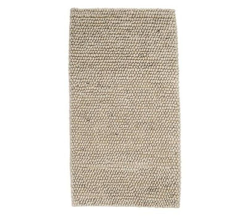 Tapijt wol naturel beige 120x60 cm