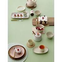 Emma dessertborden groen/geel