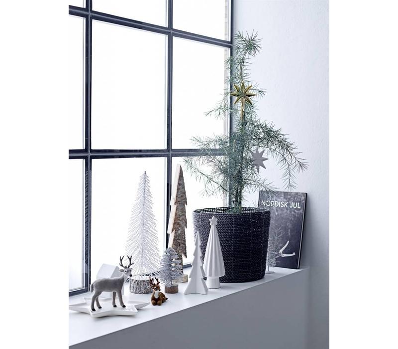 Deco kerstboom wit porselein