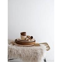 Houten dessertbord rubberwood