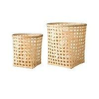 Manden bamboe naturel, set van 2