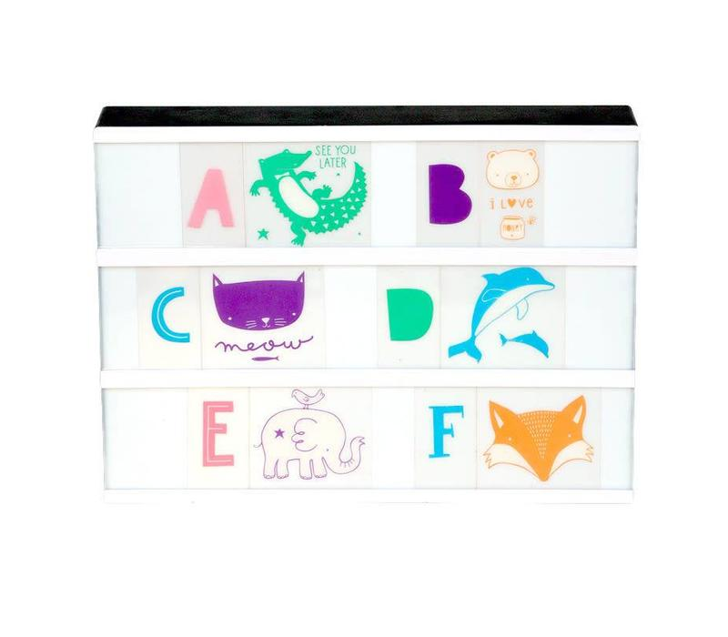 Lightbox letter set: ABC pastel
