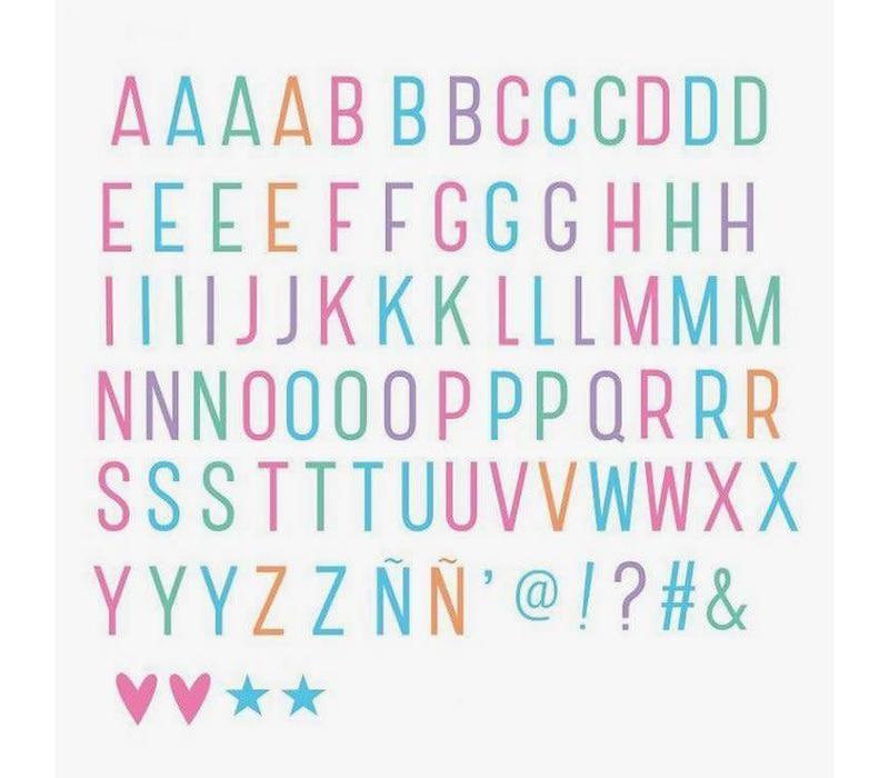 Lightbox letter set pastel