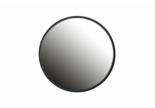 WOOOD Lauren spiegel metaal zwart