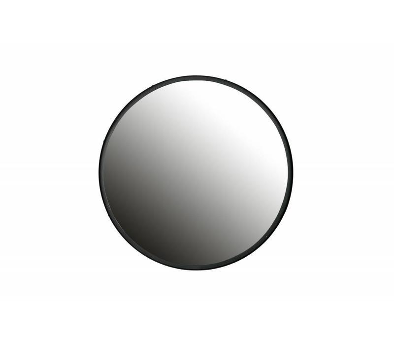 Lauren spiegel metaal zwart