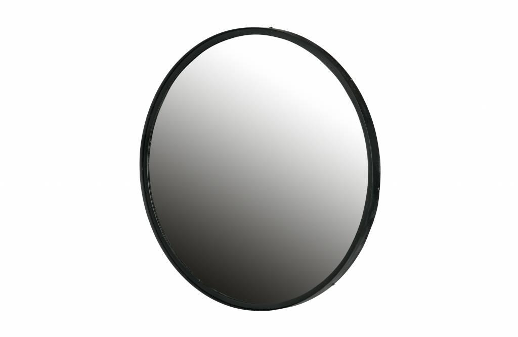 Zwarte Ronde Spiegel : Lauren spiegel metaal zwart vida design