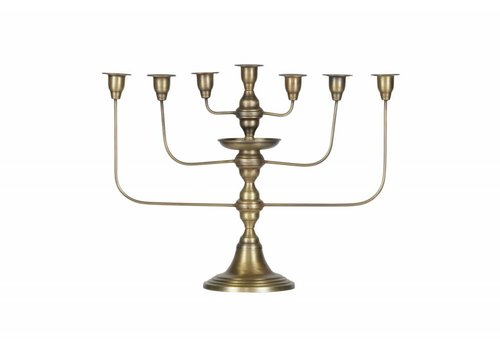 BePureHome Totem kandelaar metaal antique brass