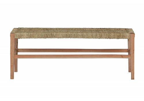 BePureHome Zen bankje hout/geweven touw naturel