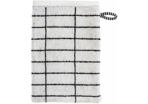 Mette Ditmer Washandje black/off-white tile stone
