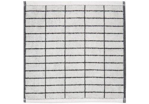 Mette Ditmer Gastendoekje black/off-white tile stone