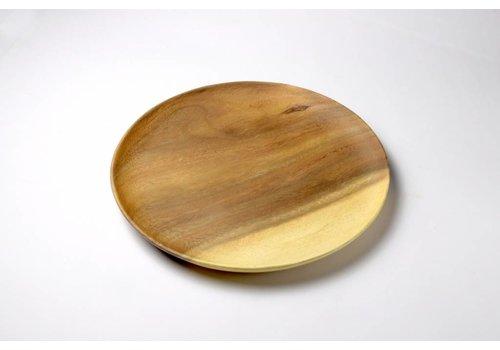 Kinta Houten bord dun 28 cm