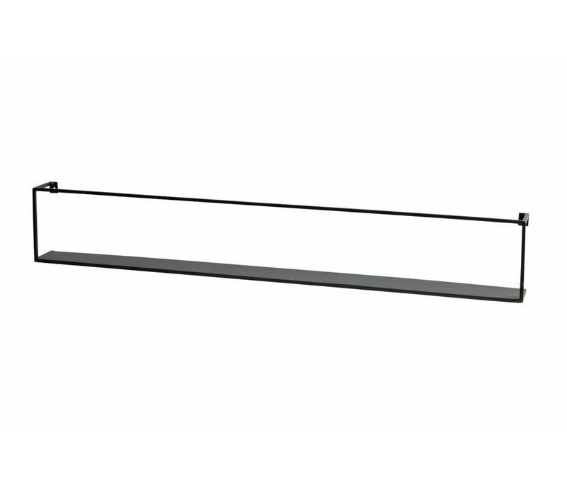 Meert wandplank zwart 100cm