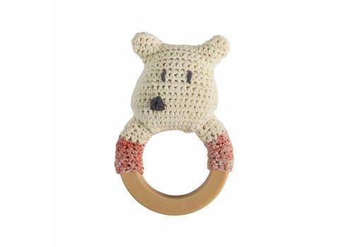 Sebra Gehaakte rammelaar ijsbeer ring