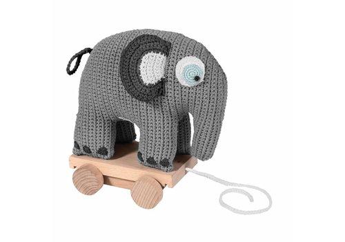 Sebra Gehaakt trekspeeltje olifant