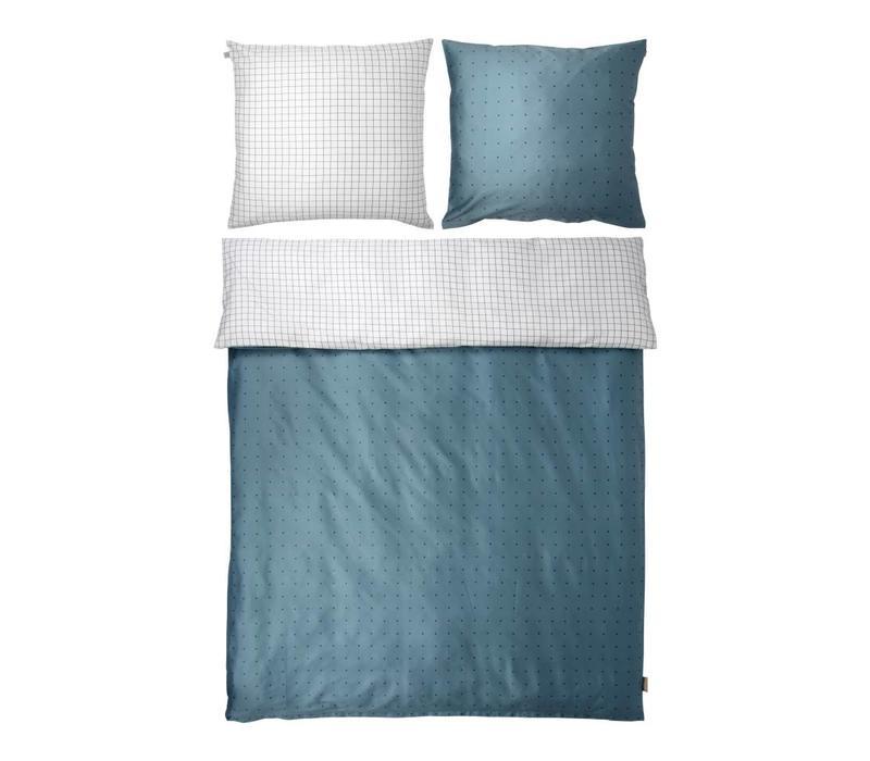 THREE bedding blue