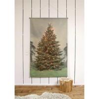 XL kerstboom wandkaart