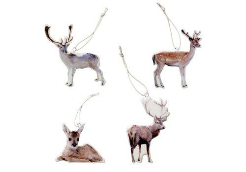 Bloomingville Hanger wit porselein herten - set van 4