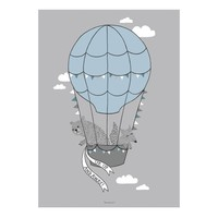 Grijze poster ballon 50x70cm