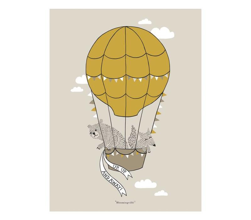 Bruine poster ballon 30x40cm