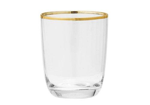 Bloomingville Drinkglas met goudkleurige rand