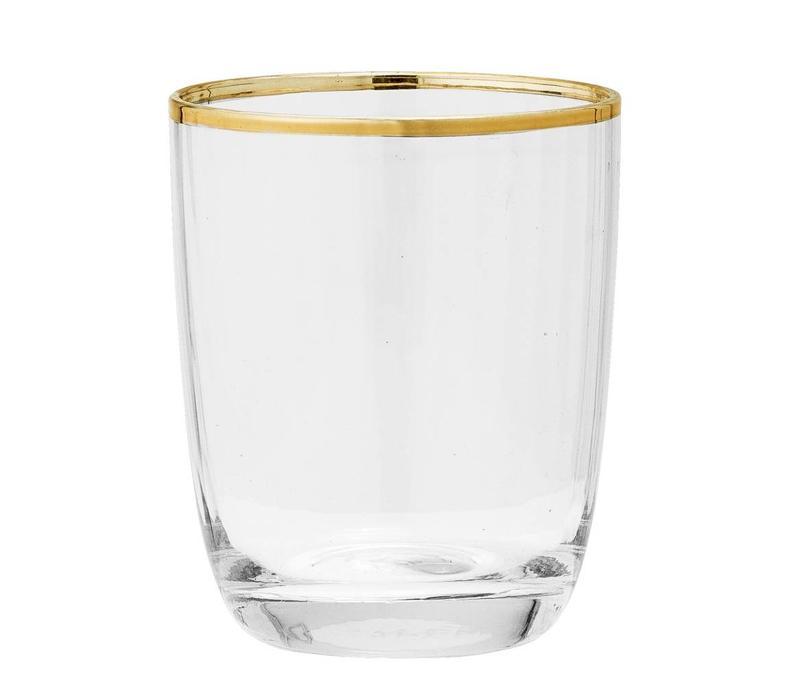 Drinkglas met goudkleurige rand