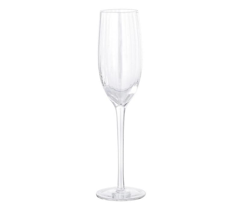 Champagne glas transparant