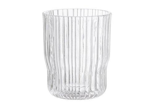 Bloomingville Drinkglas transparant geribbeld